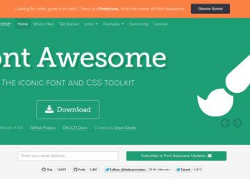 FontAwesomeでアイコンをWEBフォント表示する。