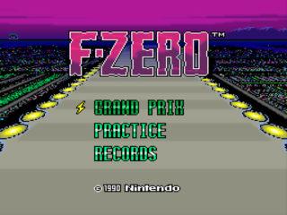F-ZEROをプレイ