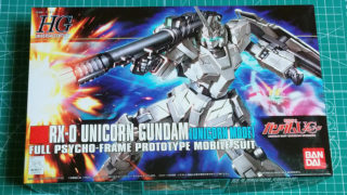 HGUC 1/144 RX-0 UNICORN GUNDAM [UNICORN MODE]を制作