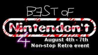 Best of Nintendon't 4に参加します。